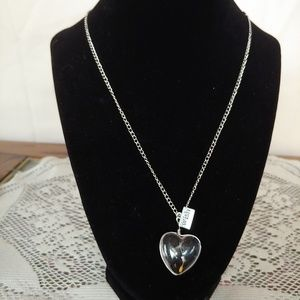 Wish Glass Heart Seed Necklace